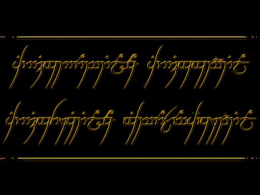 Ecriture elfique