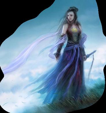 femme guerrière myst